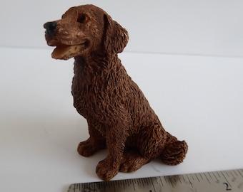 Retriever/Labrador Dog, for a 1:12th Dolls House Chocolate/Brown