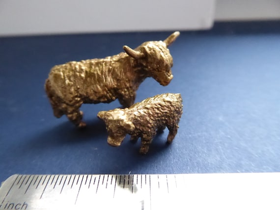 Highland Cow and Calf Ornament