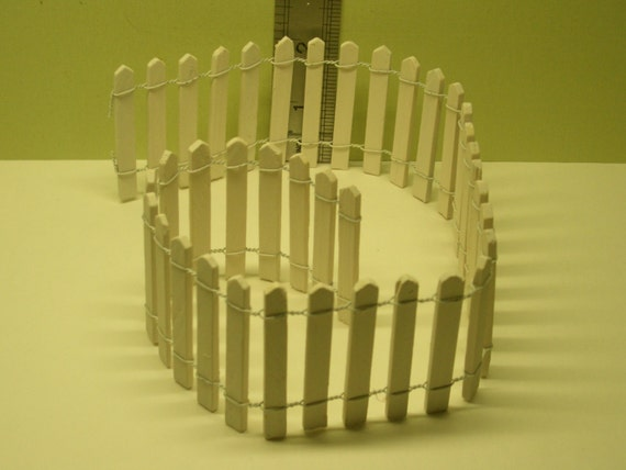 1 12th 18 White Picket Fence Dolls House Miniature Etsy