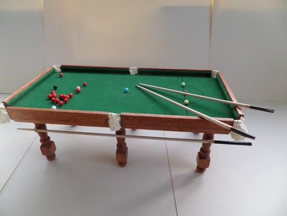 1:12th tavolo da Snooker 2 stecche lungo braccio Cue e | Etsy