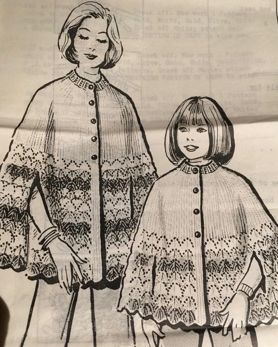 vintage Kate Marchbanks 1950s cape pattern women 5630