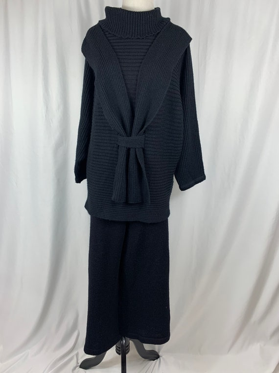 Vintage Black French Knit Two Piece