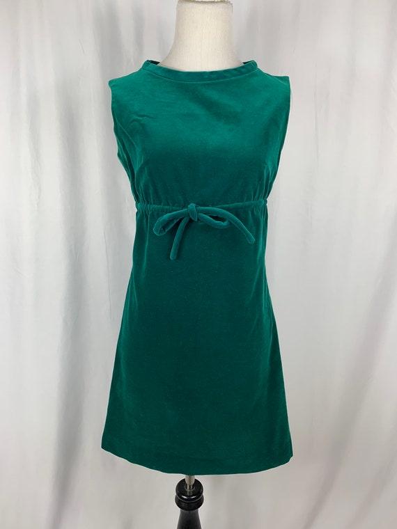 Vintage Forrest Green Velvet Dress