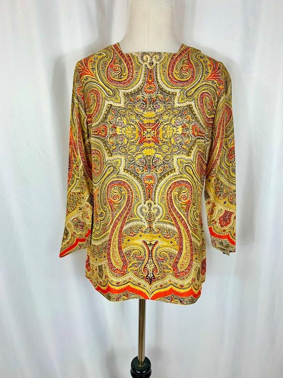 Vintage 60's Vera Neumann Silk Blouse