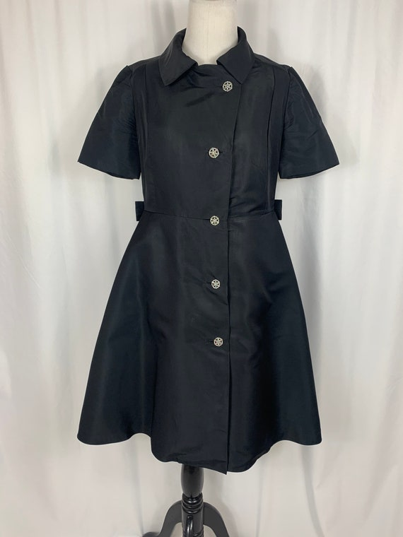 Vintage Black Fit and Flare Shirtwaist Dress