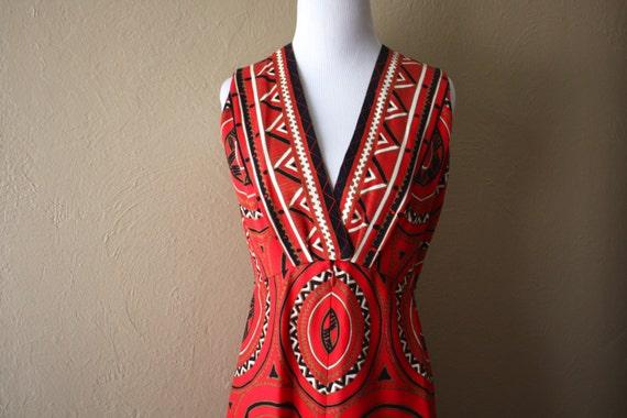 Vintage Spectacular Teal Traina Hi-Low Dress
