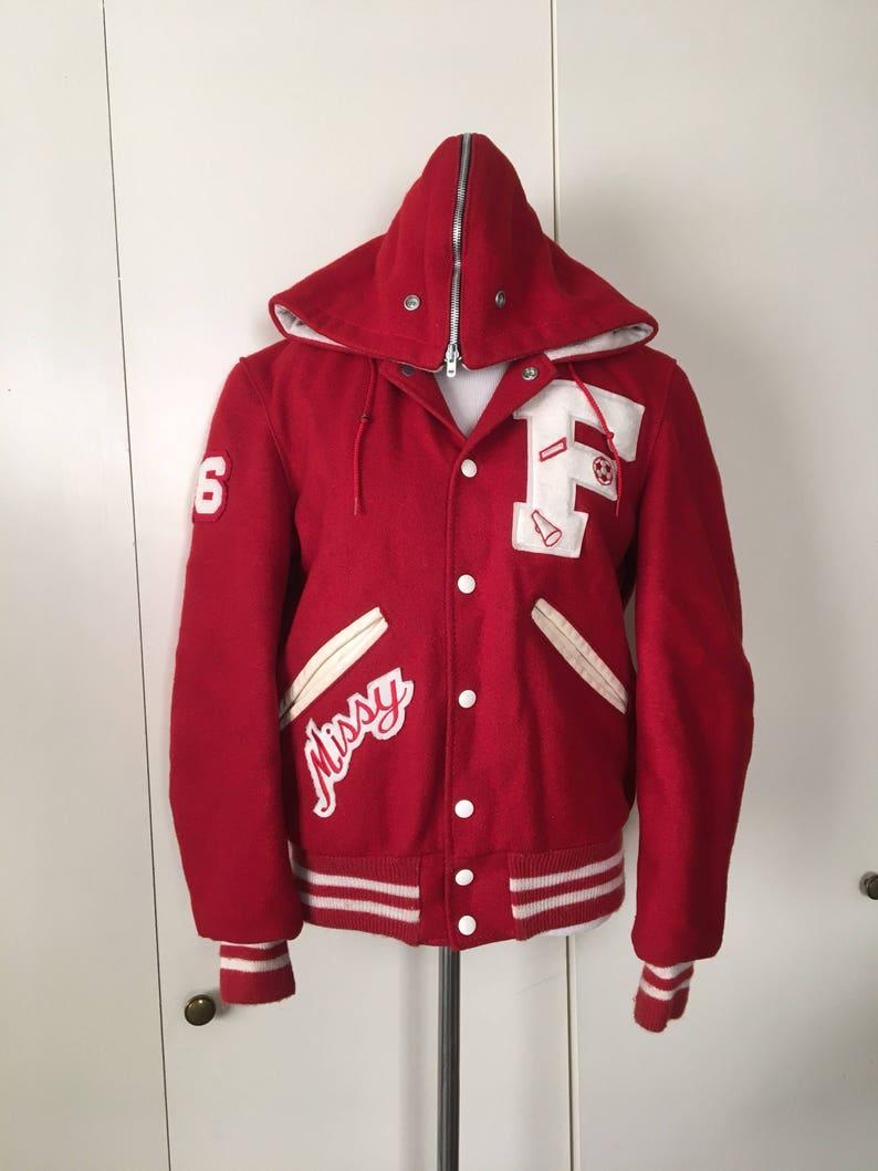 907d7cfb1 Vintage Red Letterman Jacket