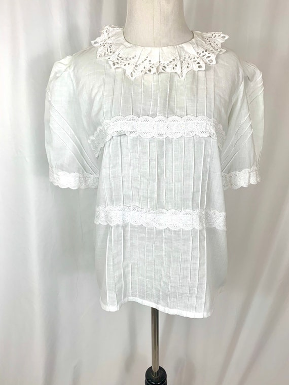 Vintage French Cotton Blouse