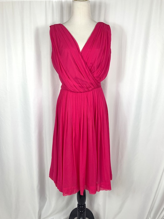 Vintage Lilli Diamond Fuchsia Fit and Flare Party