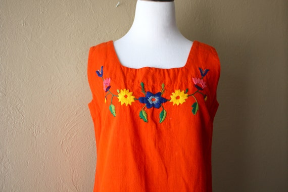 Vintage Mexican Embroidered Sun Dress