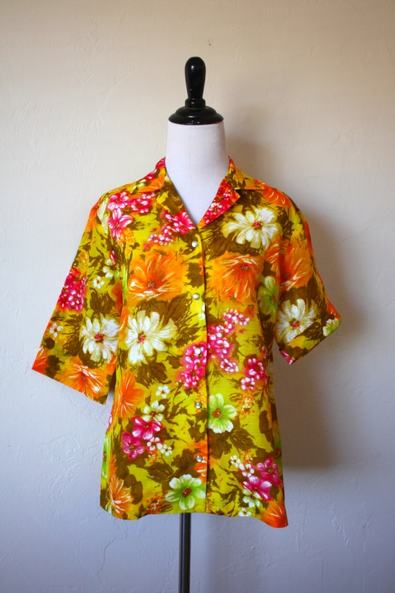 Vintage H Bar C California Ranchwear Hawaiian Shir