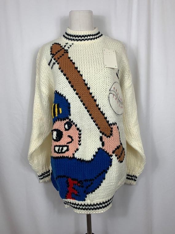 Vintage NWT Jamie Scott Baseball Novelty Sweater