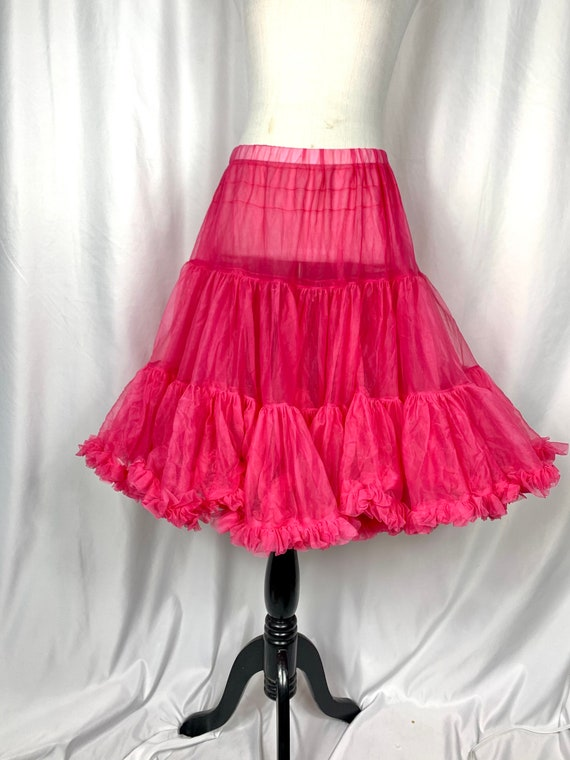 Vintage Fuchsia Pink Tulle Circle Skirt