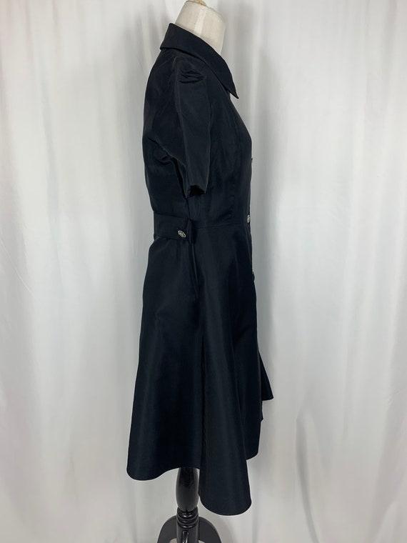 Vintage Black Fit and Flare Shirtwaist Dress - image 3
