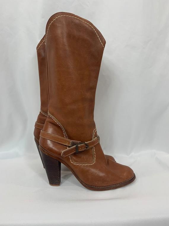 Vintage Zodiac Leather Western Boots size 9