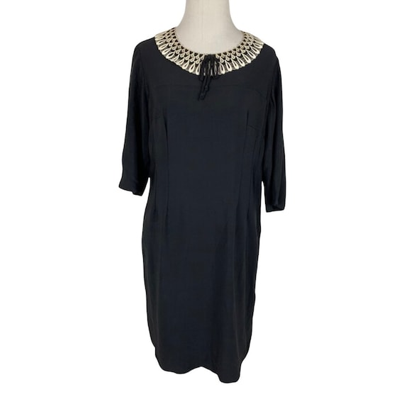 Vintage 1940s Handmade Rayon Dress - image 1