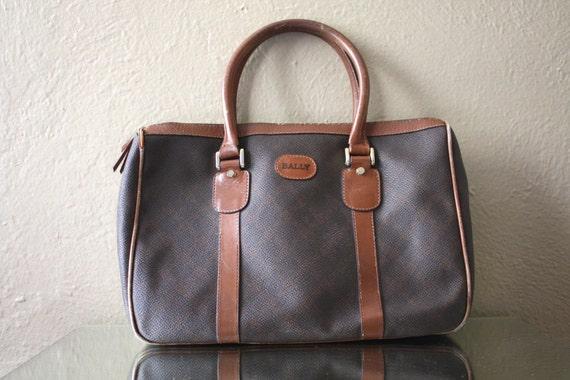 Vintage Bally Leather Satchel