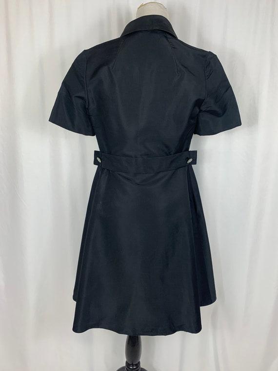 Vintage Black Fit and Flare Shirtwaist Dress - image 4