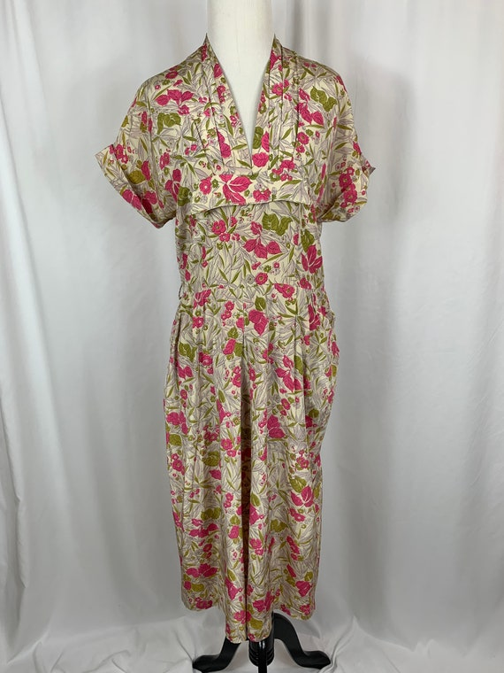 Vintage 1940s Handmade Rayon Dress