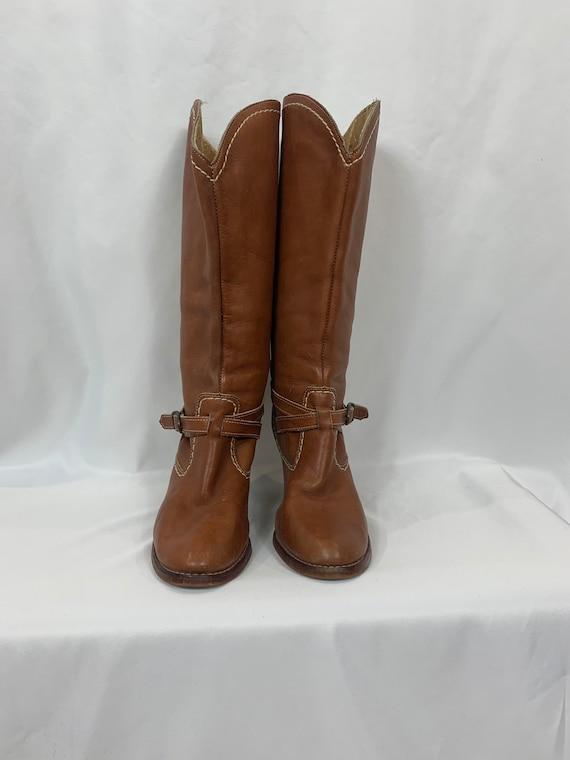 Vintage Zodiac Leather Western Boots size 9 - image 3