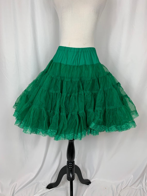 Vintage Emerald Green Tulle Circle Skirt