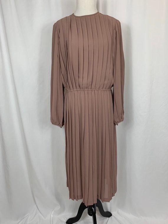 Vintage 80's Pleated Chiffon Dress