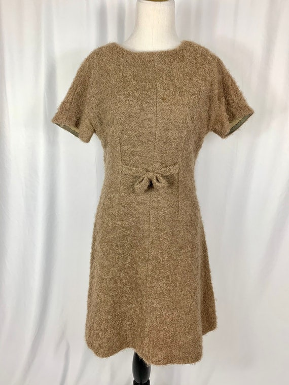 Vintage 60's Brown Mohair Dress