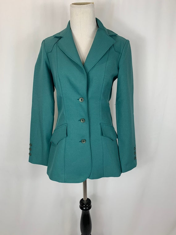 Vintage Panhandle Slim Teal Western Coat