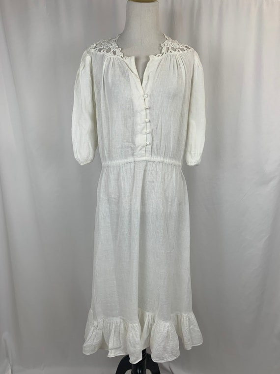 Vintage White Indian Cotton Dress - image 2