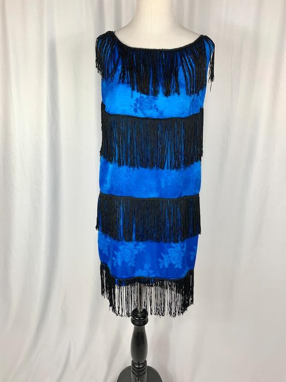 Vintage Show Girl Flapper Fringed Dress