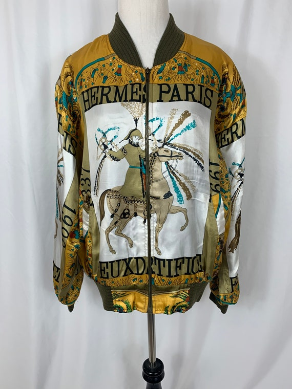 Vintage Hermès Silk Bomber Jacket
