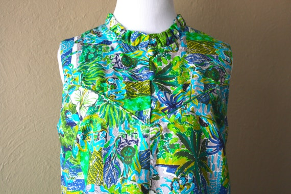 Vintage Liberty House of Hawaii Vibrant Shift Dres