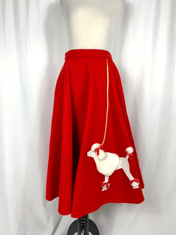 Vintage Cherry Red Poodle Skirt