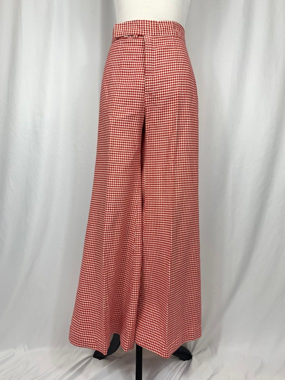 Vintage High Waisted Gingham Bell Bottoms