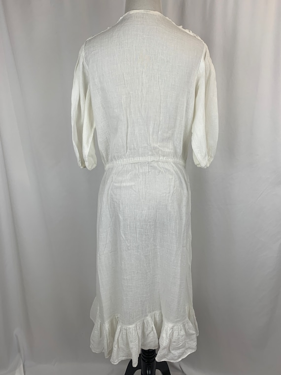 Vintage White Indian Cotton Dress - image 4
