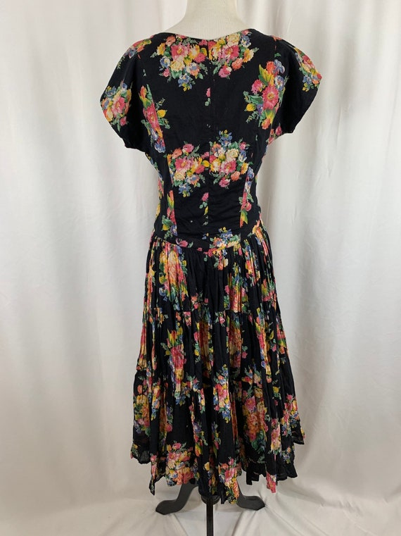 Vintage 90's Indian Cotton Floral Gauze Dress - image 2