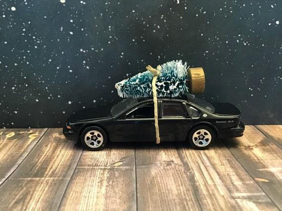 Chevy Impala Carrying Christmas Tree 1996 Black Chevy Impala Car Christmas ornamen,Stocking Stuffer,Christmas Tree Ornament