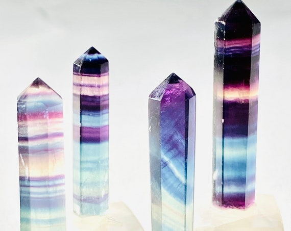 Fluorite point paperweight, office decor, crystal home decor, reiki healing crystals, fluorite, paperweights, crystals