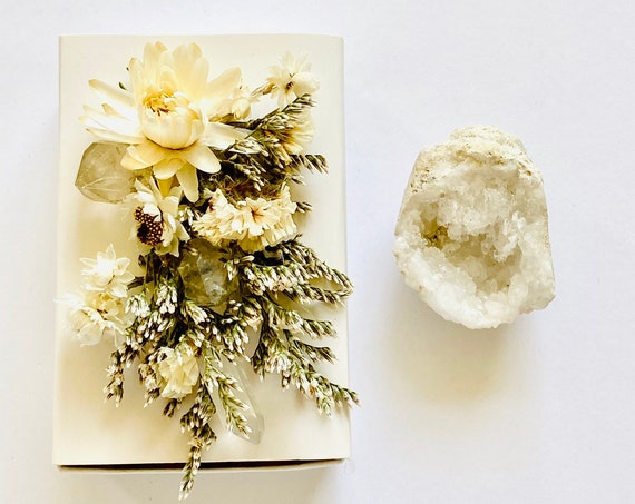 Crystal Gift Box, Geode Crystal Gift Box, Get Well Soon Crystal Gift Box, Self Care Package, Wellness Crystal Gift Box, Quartz Crystal Geode