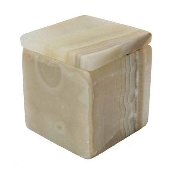 Onyx stone box, onyx, rectangle box, candle holder, stone vase, onyx candle holder, stone vessel, marble candle holder