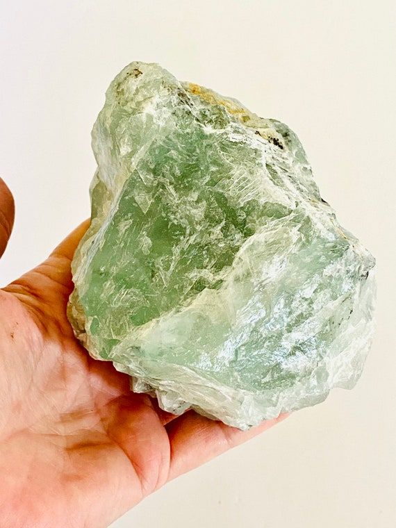 Fluorite specimen, Raw Fluorite, Paperweight, Wellness gifts, Green Crystal, Green fluorite, Fluorite, Gifts for him, fluorite