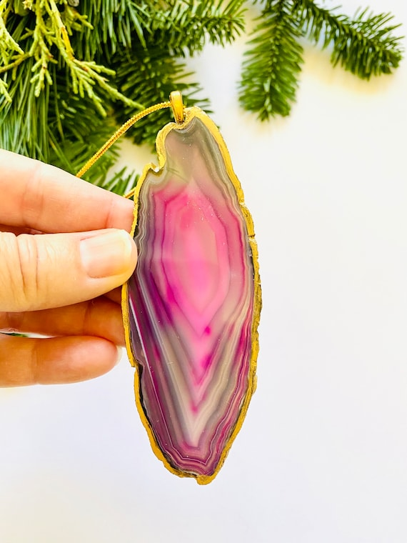 Agate Ornaments, Agate Christmas ornaments, agate sun chasers, ornaments, present tags, door hangers, Christmas tree ornament, holiday decor