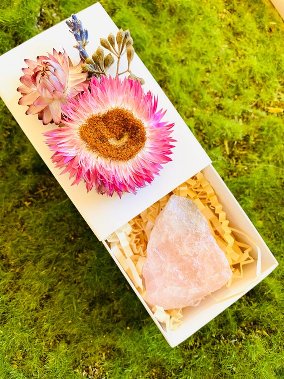 Crystal Gift Box, Geode Crystal Gift Box, Get Well Soon Crystal Gift Box, Self Care Package, Wellness Crystal Gift Box, Favors