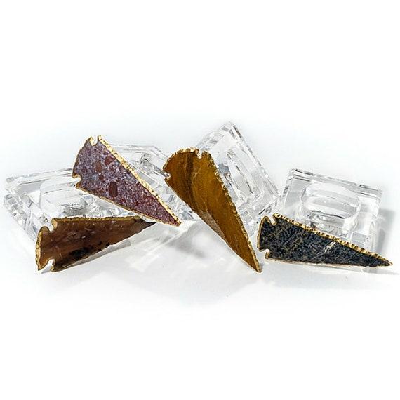 Agate arrowhead napkin rings, Acrylic napkin Rings, Arrowhead Napkin Rings, Agate Napkin Rings, Home Decor