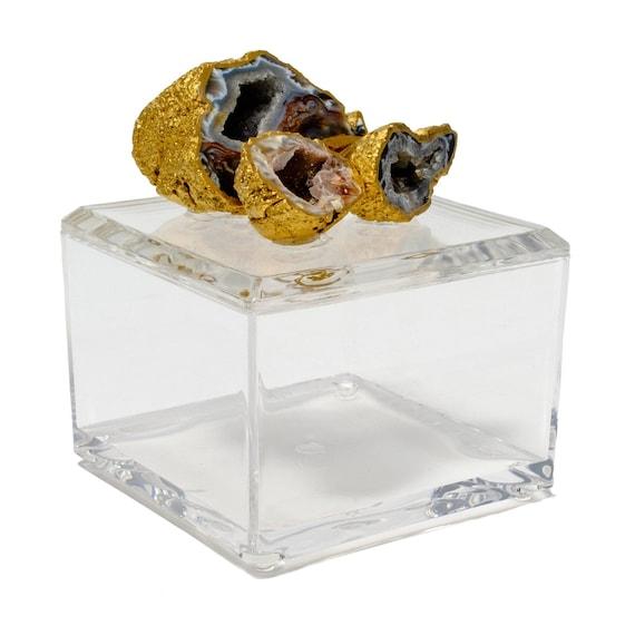 Small Acrylic Box w/ Oco Geode Cluster