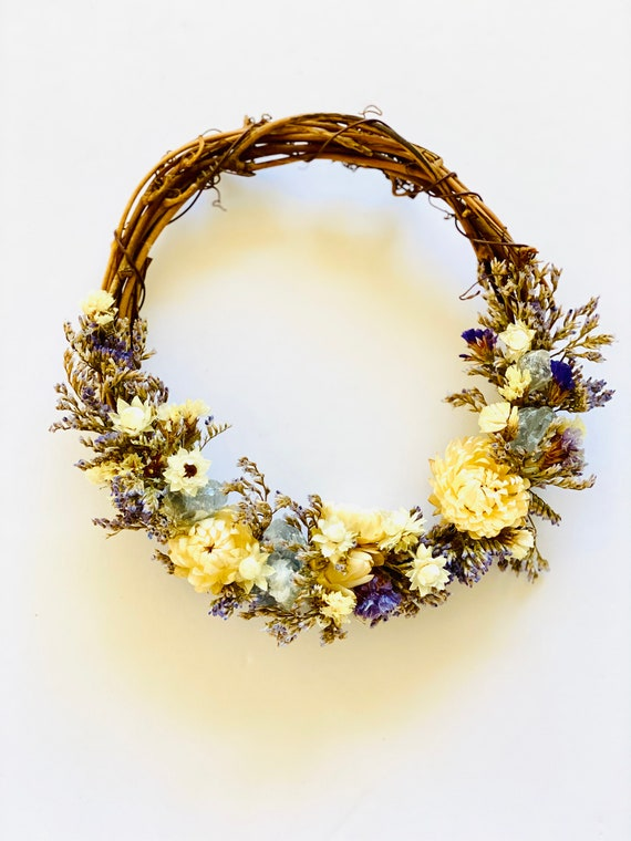 Botanical wreath dried flowers and herbs, dried flower wreath, flower wreath, dried flowers, wreath, Spring wreath, dried flower wreath