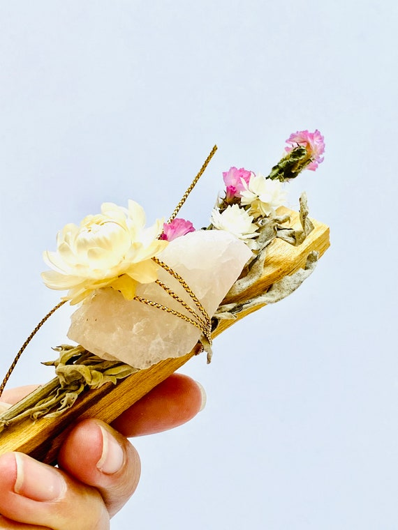 Palo santo, White sage and Rose Quartz gift set, Palo Santo, incense, reiki, spiritual gifts, palo santo bundle, Rose quartz, White Sage