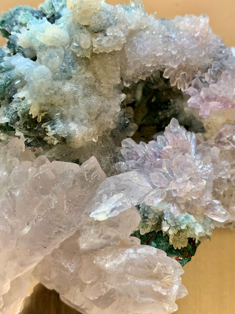 Metallic gray metal gem box w amethyst flower Ring Box acrylic box Crystal box Jewelry box Gemstone Box amethyst box