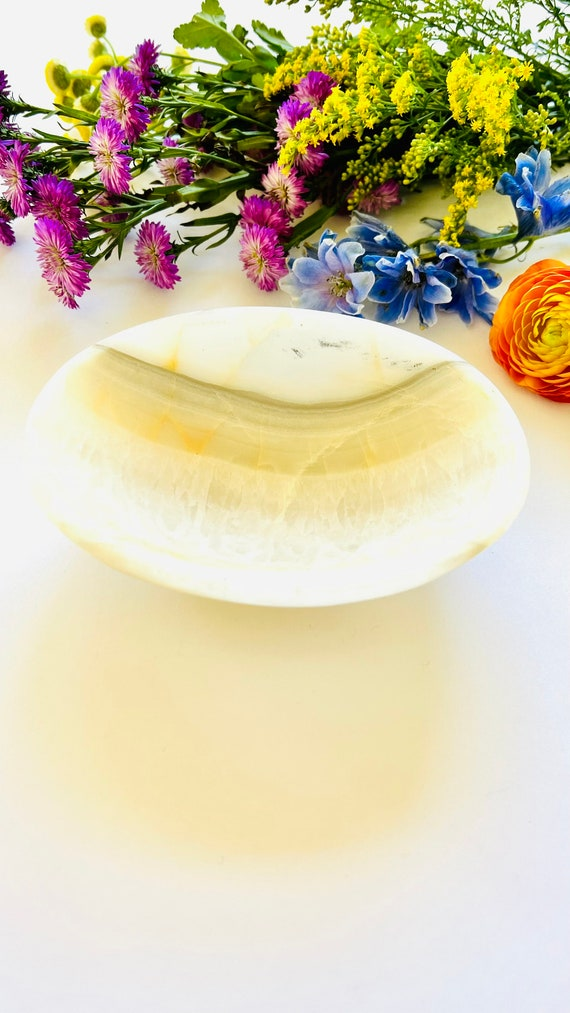 Onyx catchall dish, Onyx bowl, onyx soap dish, Stone bowl, Bathroom Decor, Home Decor, Soap dish, Onyx, Jewelry tray, dish
