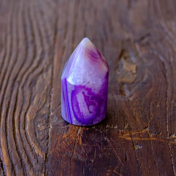 Agate Obelisk Point Paperweight